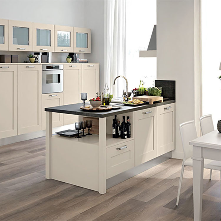 Thermofoil Luxury White Real Wood Kitchen Cabinet
