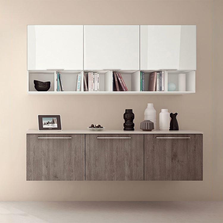 Assemble Modern Kitchen Cabinets  Wooden High Gloss Laminate