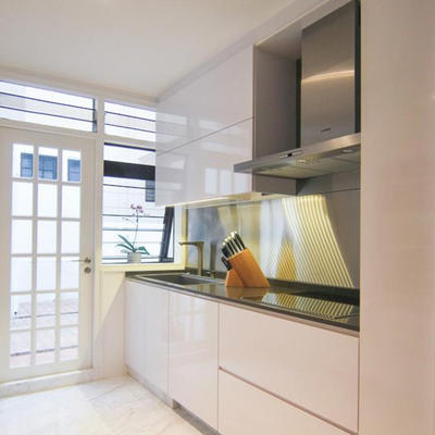 Australian Project Pictures Modern Kitchen Cabinets  High Gloss White Lacquer