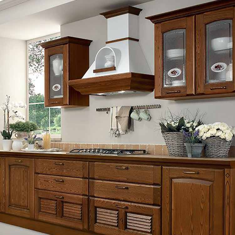Best Sale All Solid Wood Modern Kitchen Cabinets