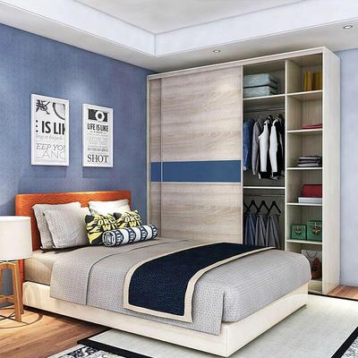 Compact Low Price Design Wood Italian Open Wardrobe Custom Closet