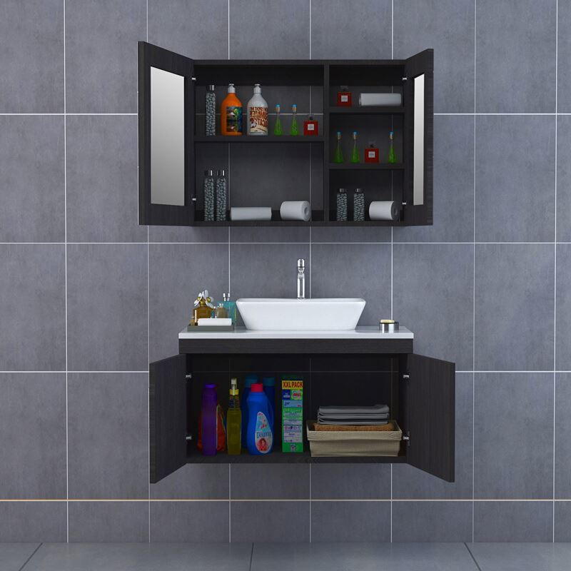 Custom Color Hotel Modern Bathroom Furniture Pvc China Bathroom Vanities