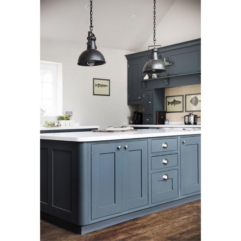 Blue Or White American Kitchen Cabinet Design For Sale