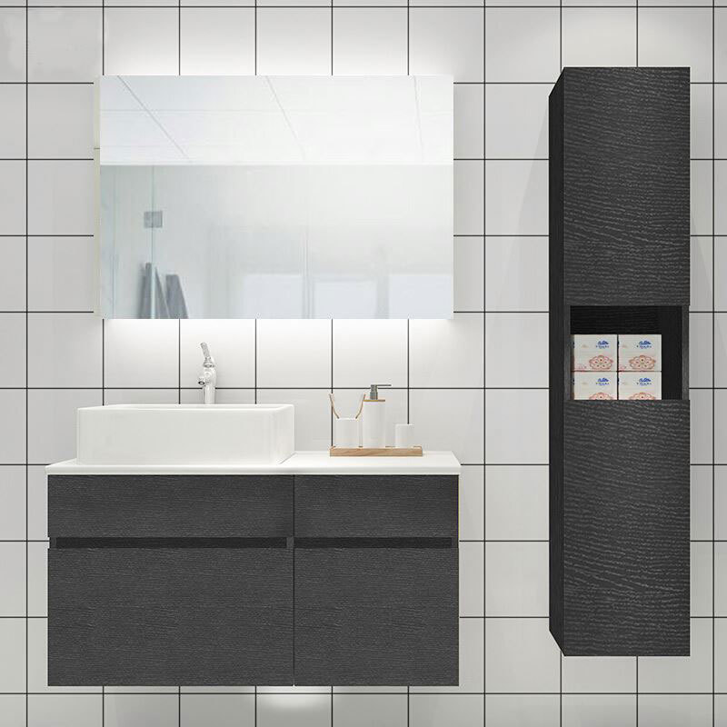 Good Reputation Particle Board Hotel Vanity Bathroom Wash Basin Cabinet