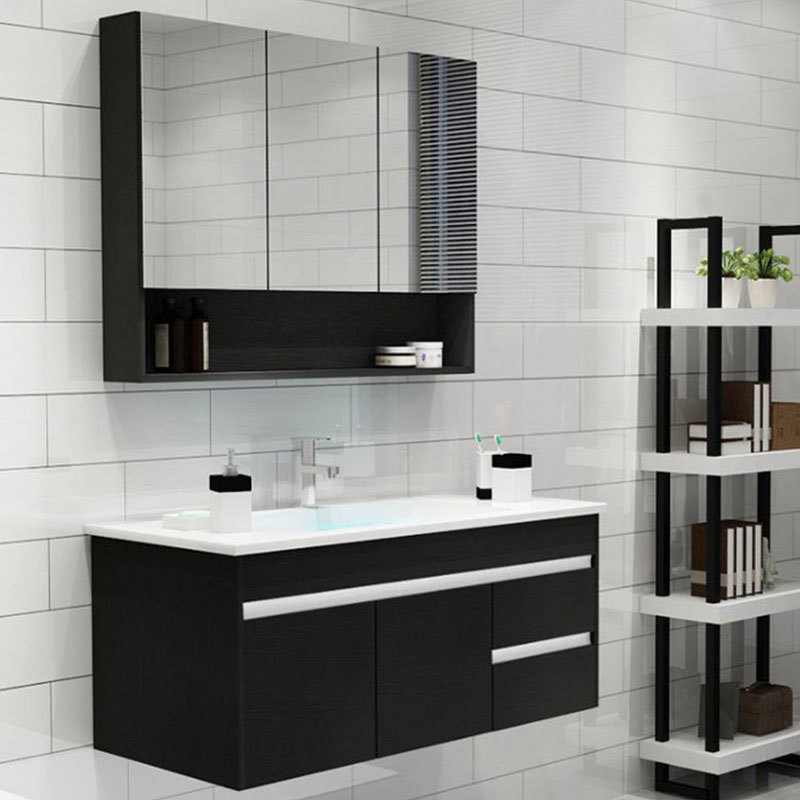 Mirrored Bathroom Cabinet Solid Wood Bathroom Vanity