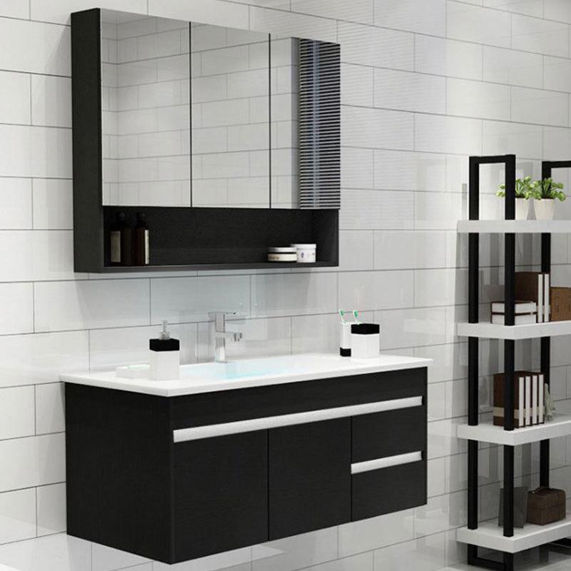 Mirrored Bathroom Cabinet Solid Wood Bathroom Vanity