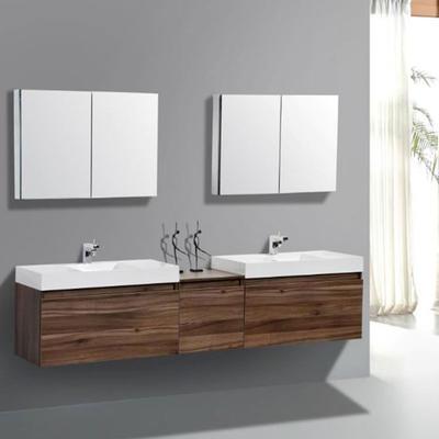 Home Furniture Modern Bathroom Vanity Bathroom Cabinet Double Sink