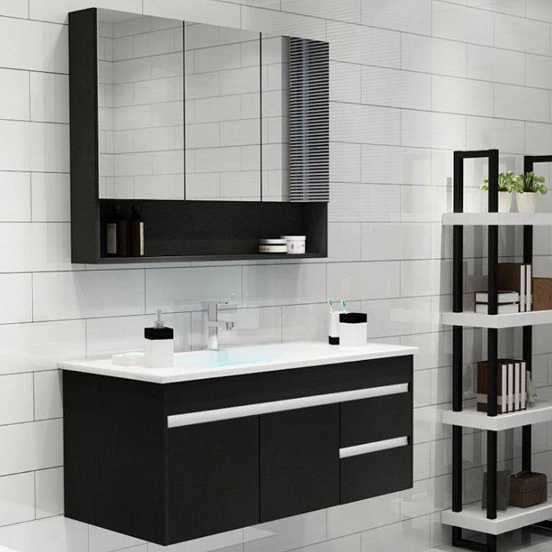 Hanging Mirrored White Gloss Bathroom Wall Cabinet