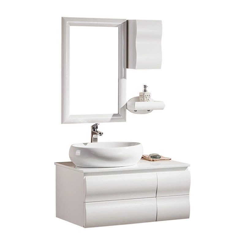 Hot Selling Manufacture Mirror PVC Vanity Bathroom Cabinet