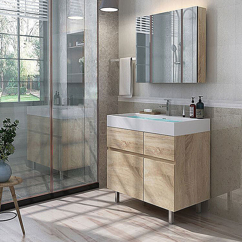 Home Mirrored Cabinet Bathroom Vanity Cabinets Modern