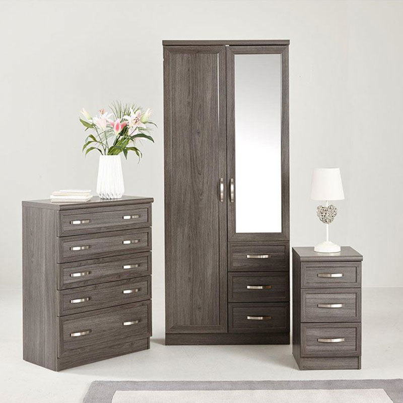 Custom Closet Bedroom Furniture Wardrobe With Mirror