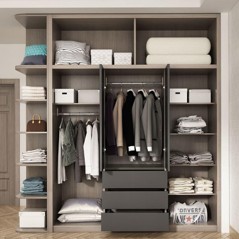 Bedroom Closet Cupboard Wardrobe Wooden Modern