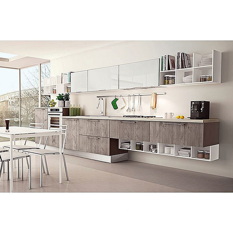 Custom White Mdf Style Solid Wood Modern Kitchen Cabinets