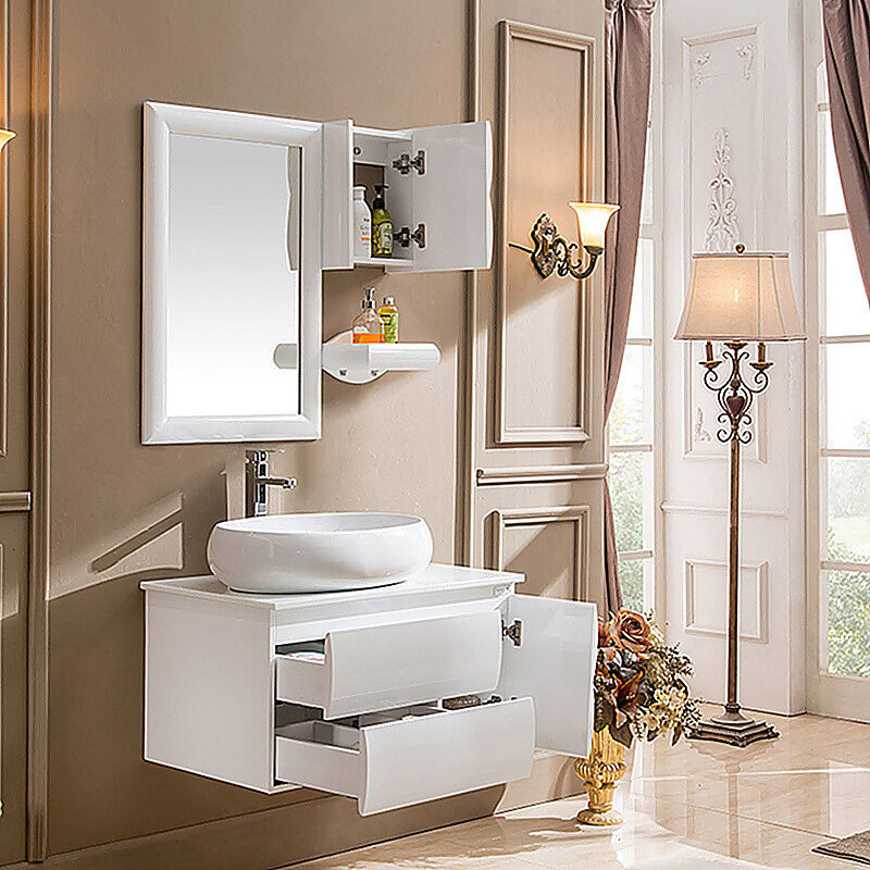 Manufacture Mirror PVC Bathroom Storage Cabinet