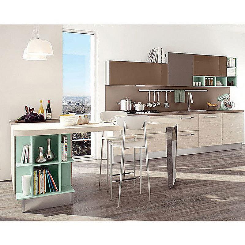 Custom Wooden Design Modern Hotel Kitchen Shelves Cabinet