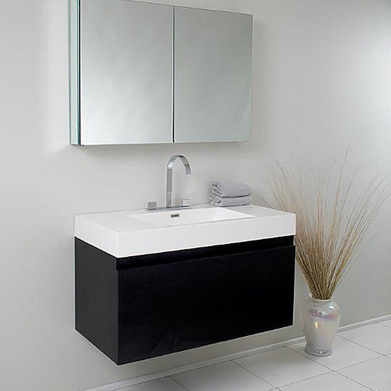 Modern European Style Hot Selling Wall Hung Bathroom Design Cabinet