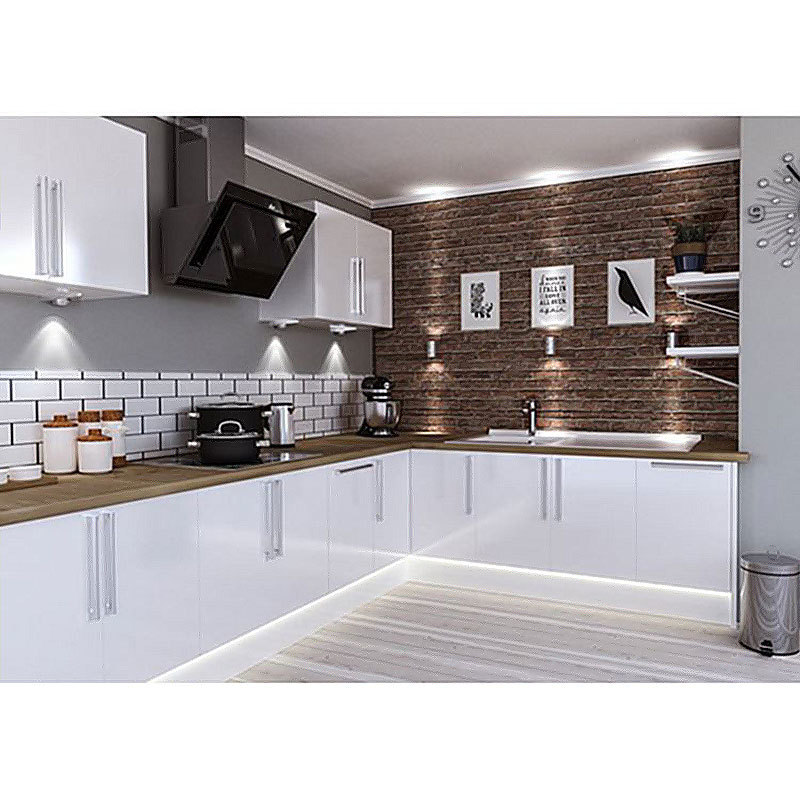High Gloss Grey Wood Modern Kitchen Cabinets Price