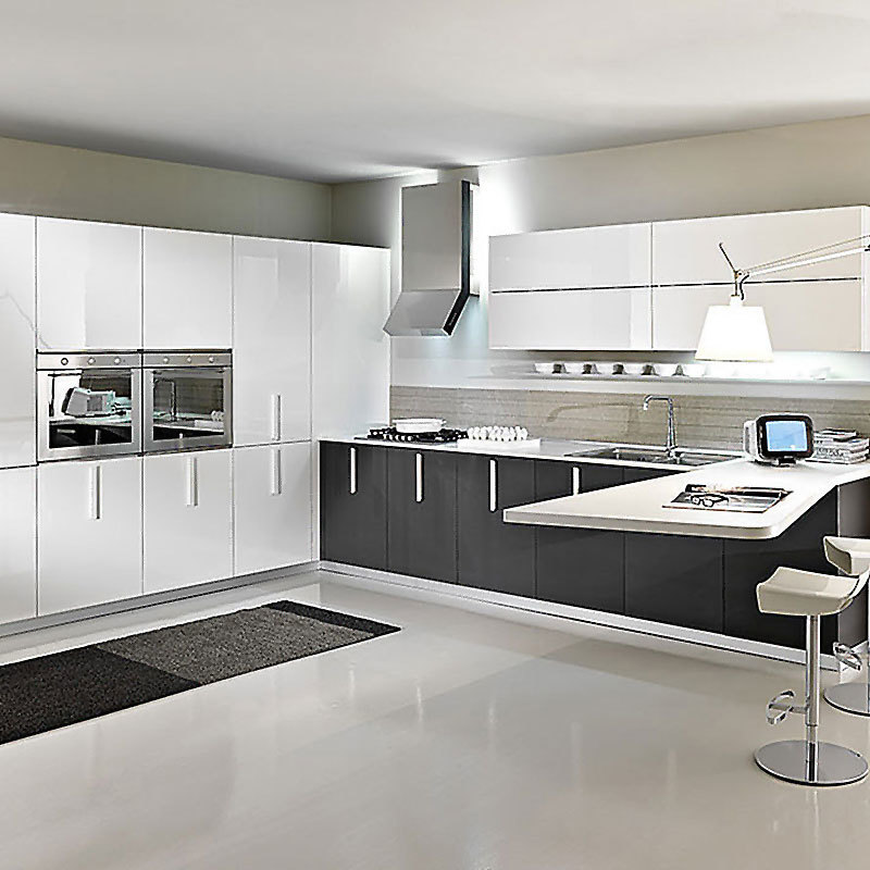 Kitchen Furniture PVC Modern Kitchen Cabinets High Gloss Cabinet
