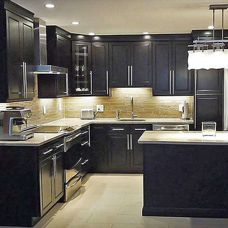 Luxury Solid Wood Modern Kitchen Cabinets Cabinet