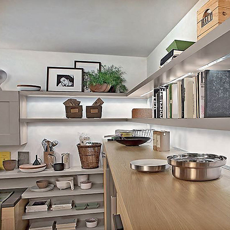Made In China Home Design Solid Wooden Modern Kitchen Cabinets