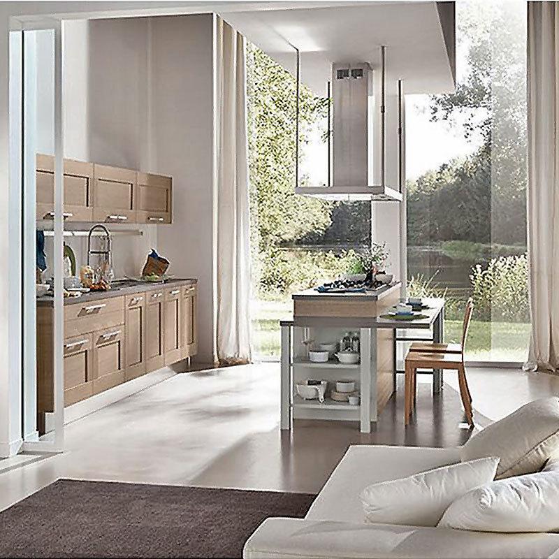 Modern Solid Wood Kitchen Wall Cabinet Manufacturer Design