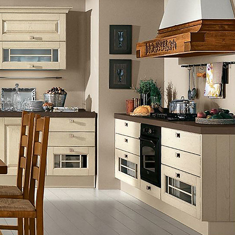Professional Solid Wood Modern European Kitchen Cabinets
