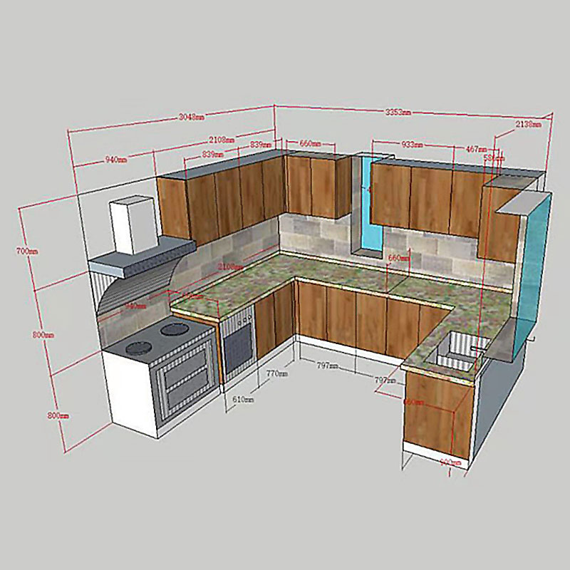 Custom kitchen cabinet drawers Suppliers-2