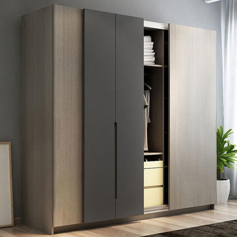Big Laminated Sliding Door Wardrobe Closet Furniture Wardrobe Design