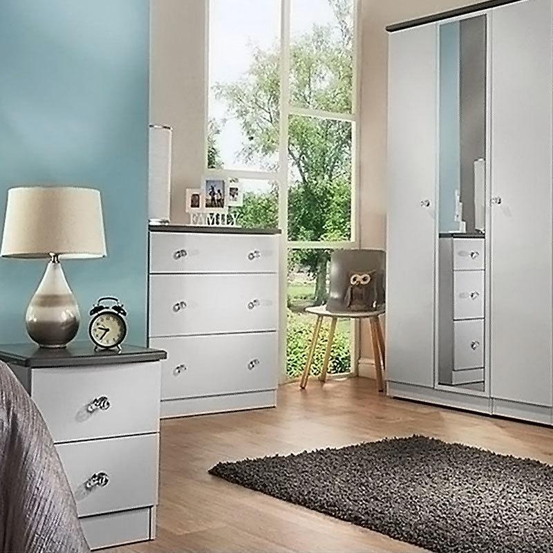 CARB II Wooden Bedroom Clothes Wardrobe Cabinet Designs