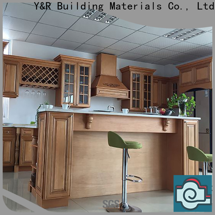 Y&R Building Custom wood cabinet kitchen for business