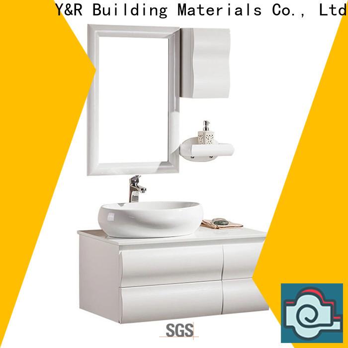 New luxury bathroom vanity cabinet factory