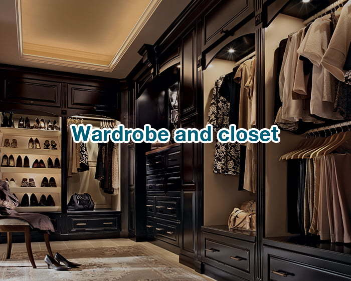 wardrobe and closet