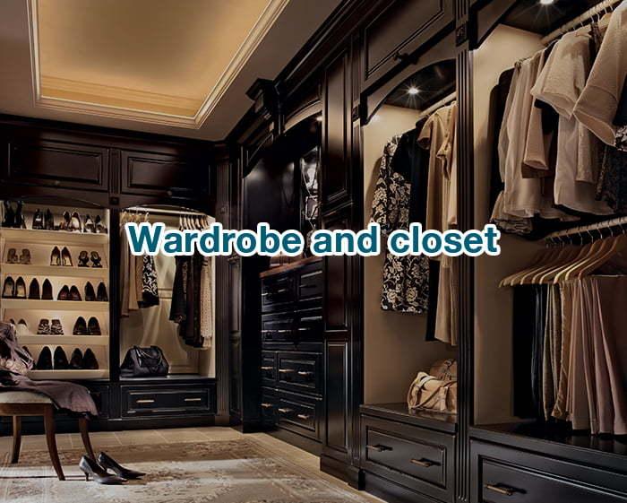 wardrobe and closet