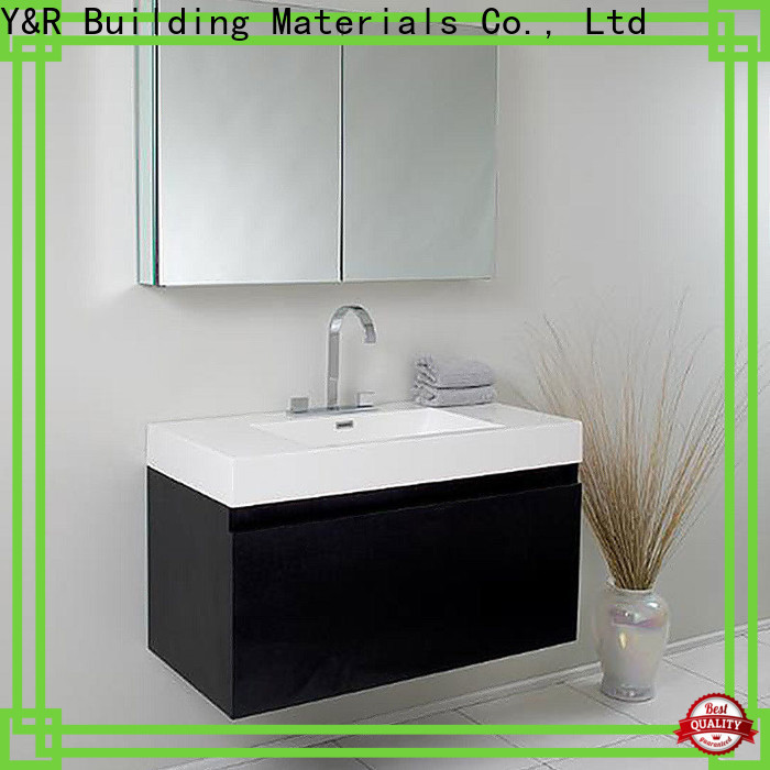 Y&R Building Material Co.,Ltd New wood bathroom cabinet factory