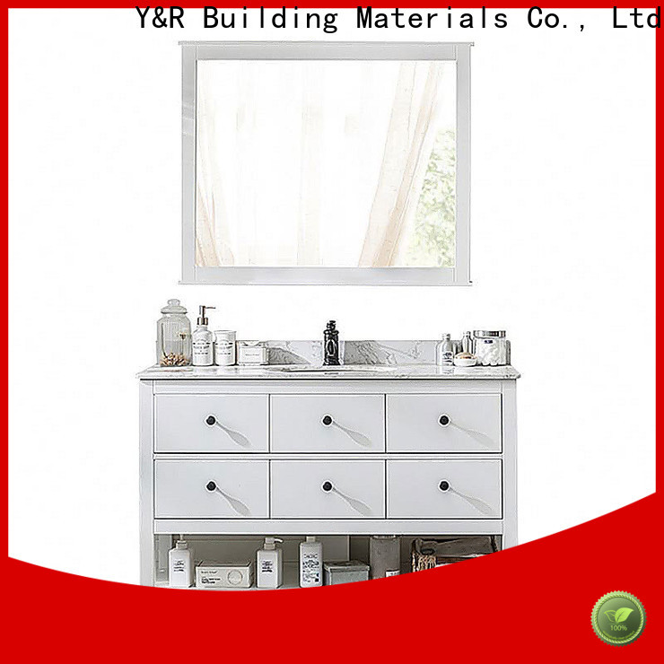 Y&R Building Material Co.,Ltd High-quality bathroom cabinet with mirror factory