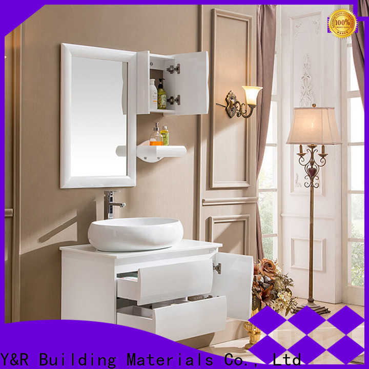 Top solid wood bathroom vanity for business