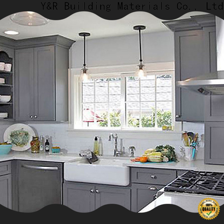 Latest small kitchen design cabinet Supply