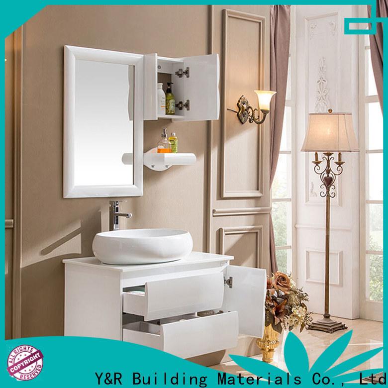 Custom bathroom double sink bathroom vanity Suppliers