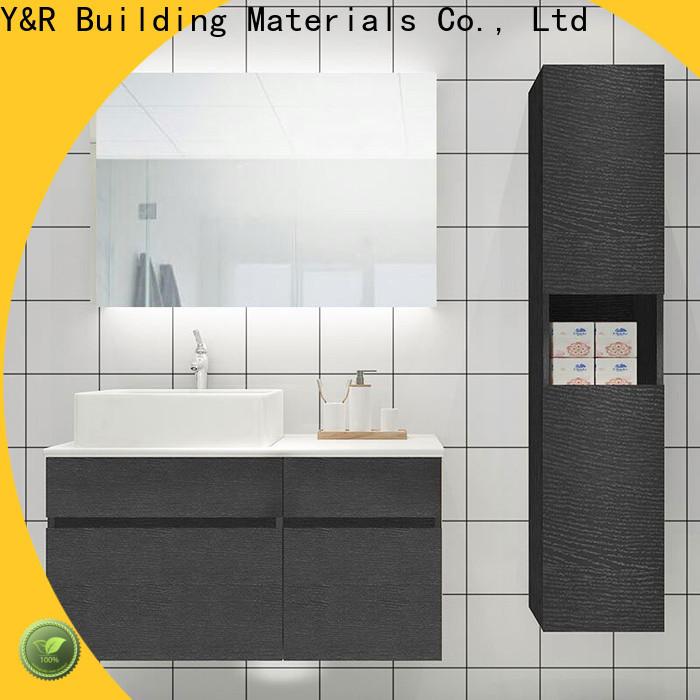 Latest high gloss bathroom cabinet factory