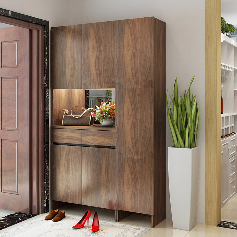 Antique Style Convenient Shoe Cabinets With Full Length Mirror