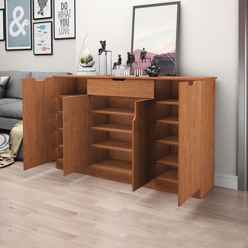Cheap Large Capacity Hallway Simple Design Modern Wooden Shoe Cabinet