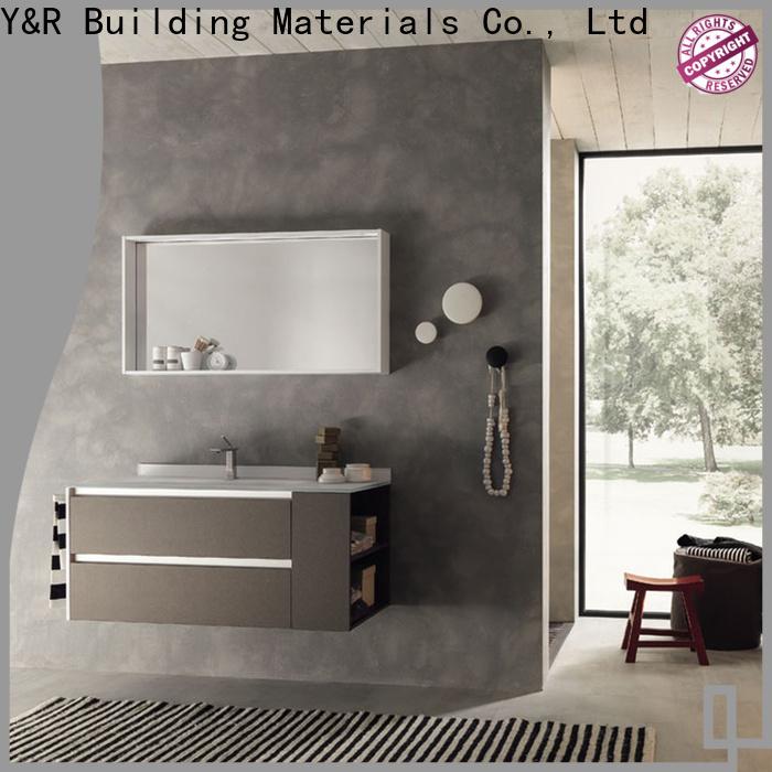 Custom white bathroom vanity with sink Suppliers