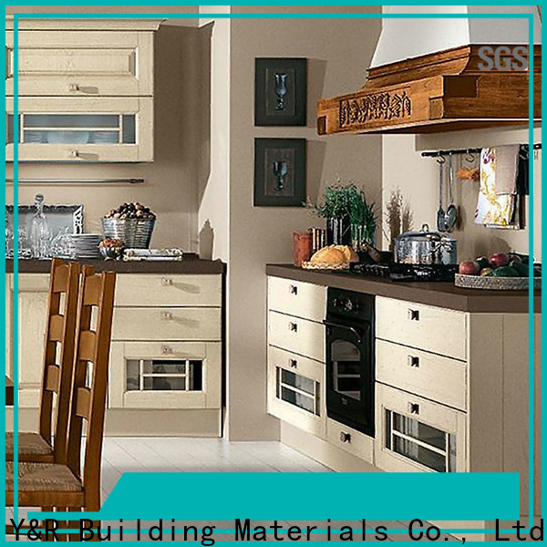 New cream kitchen cabinets factory