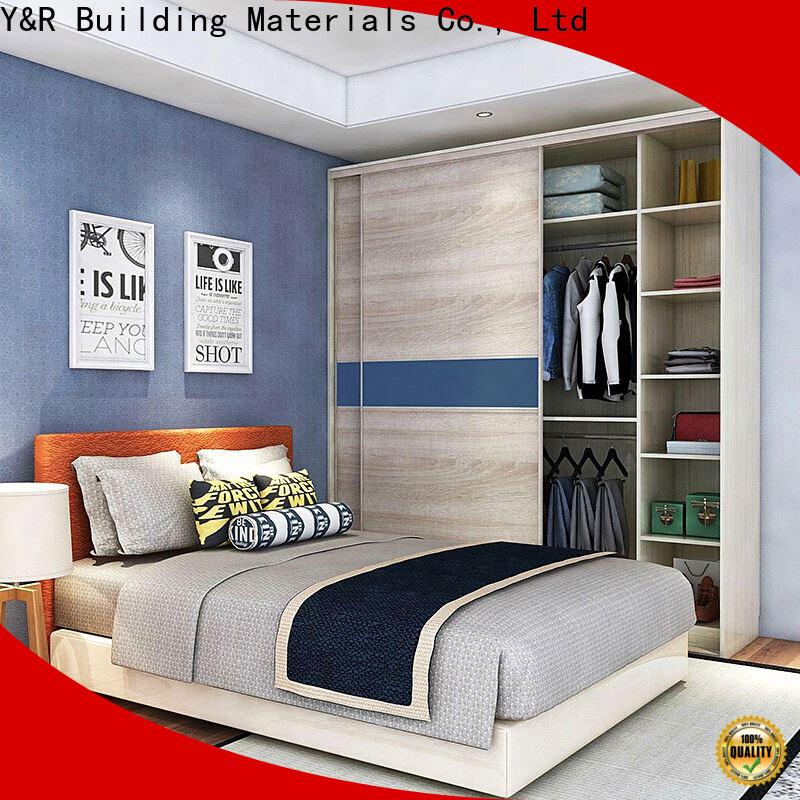 Y&r Furniture High-quality grey sliding wardrobe factory